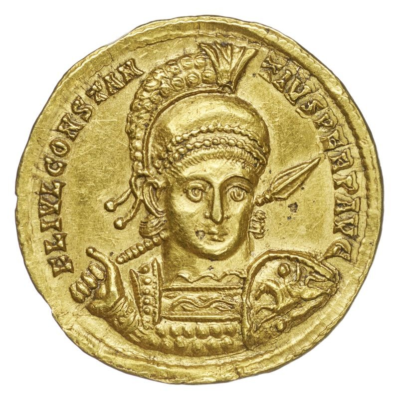 Solidus des Constantius II. (Museum August Kestner CC BY-NC-SA)